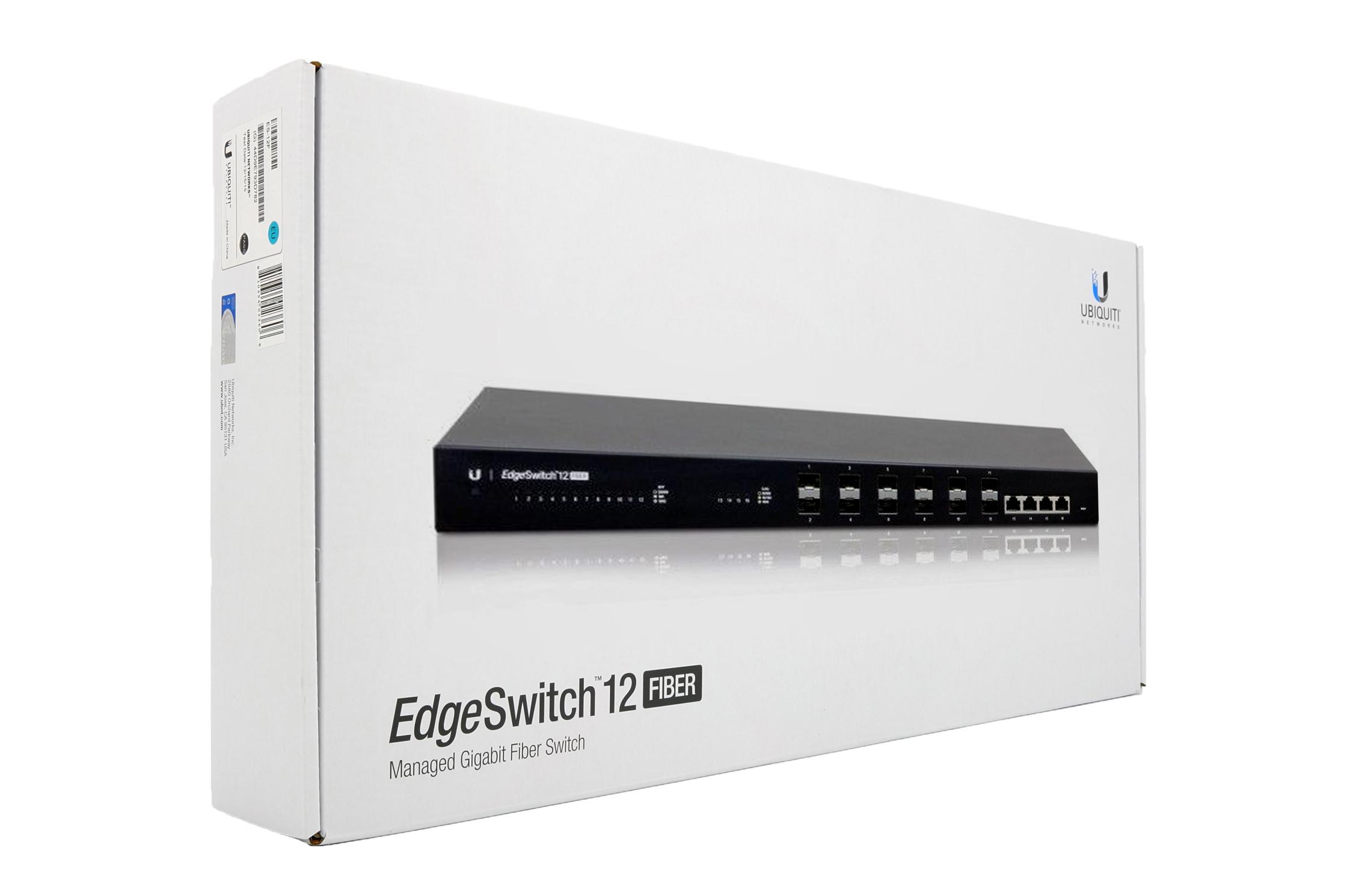 UBiQUiTi EdgeSwitch 12 Port Fiber Switch ES-12F   Help Tech