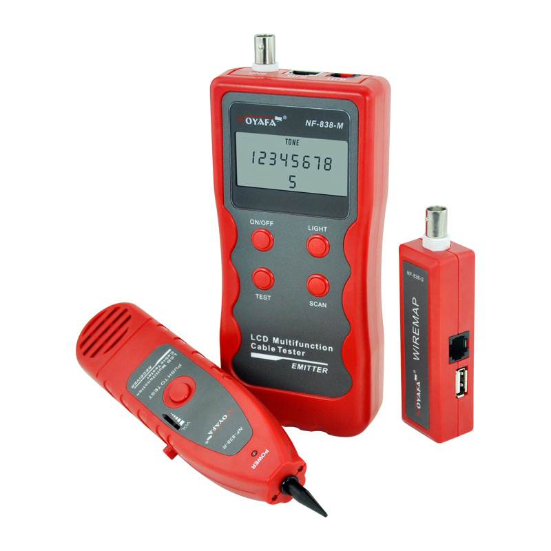 NOYAFA NF-8108M NetWork Lan Cable Tester Wire length Tester 8 Remote Identifiers