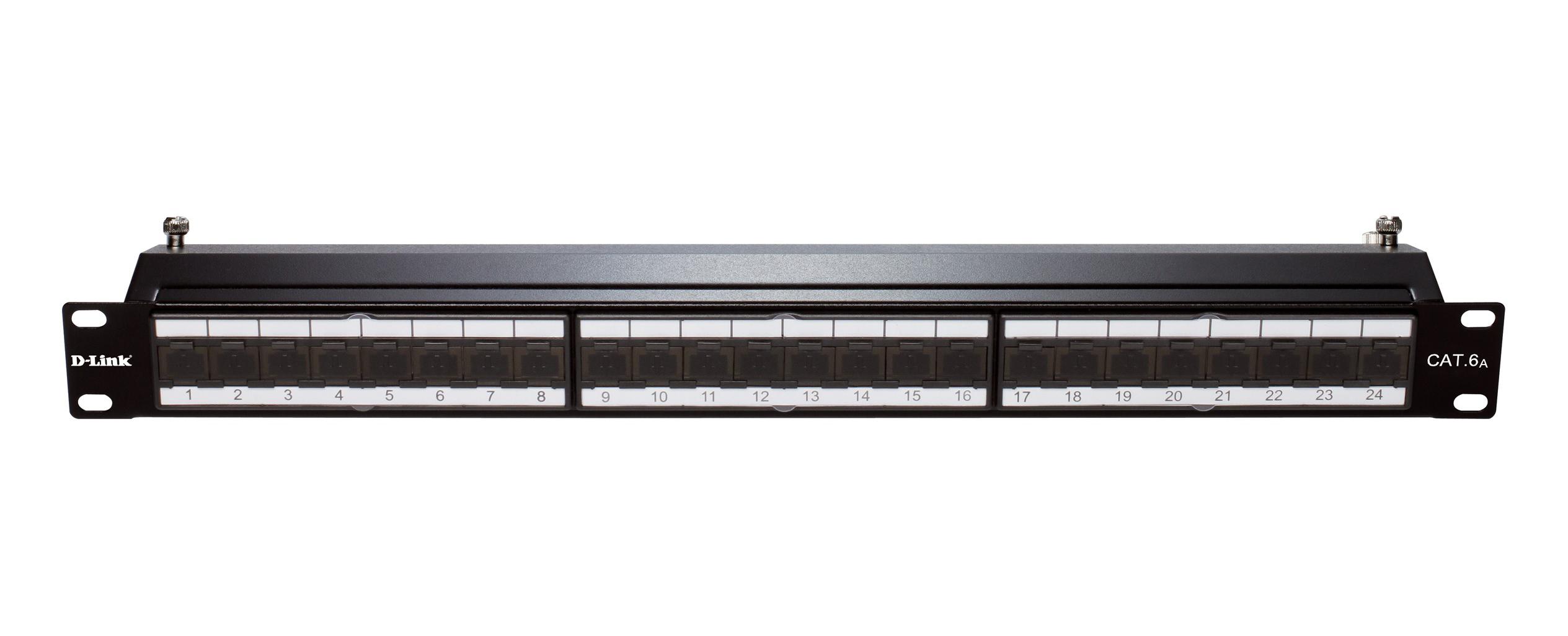 D Link Unshielded 48 Port Full Loaded Patch Panel Help Tech Co Ltd 24 Cat 6 Cable Wiring 6a Shielded Keystone
