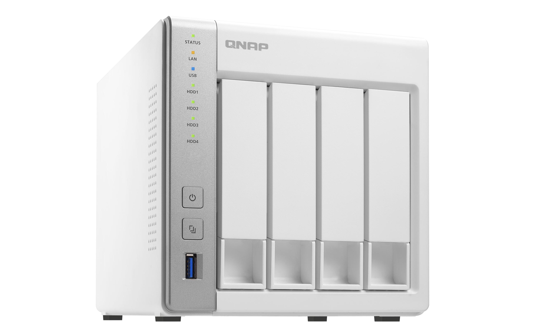 Qnap Ts 431 4 Bay Personal Cloud Nas Diskless System With Dlna Plex 228 2 Server External Storage